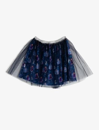 Koton Kids Frozen Lisanslı Baskılı Etek Mavi